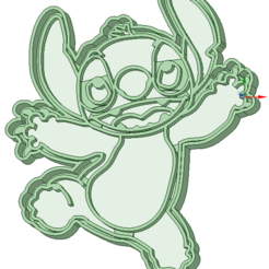 Descargar archivos 3D Stich entero cookie cutter, osval74