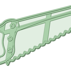 Serrucho_e.png Download STL file Cookie Cutter Saw • 3D printer object, osval74