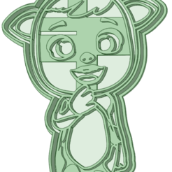 Vaquita_e.png Download STL file Cry Babies standing 3 cookie cutter • 3D printable design, osval74
