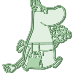 mama.png Télécharger fichier STL Mama Moomin moule à biscuit • Modèle à imprimer en 3D, osval74