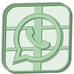 Wapp_e.png Télécharger fichier STL L'emporte-pièce Whatsapp • Modèle pour impression 3D, osval74