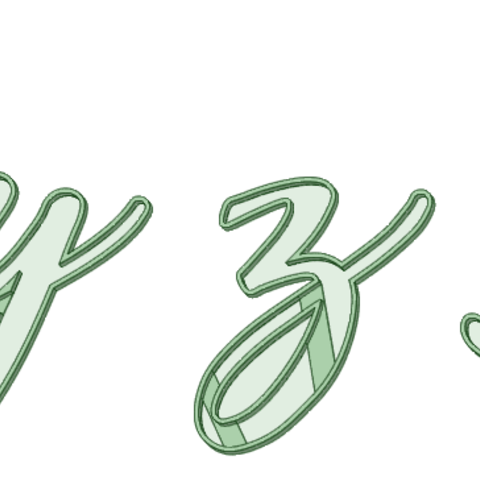 Download STL xyzA italic cookie cutter, osval74