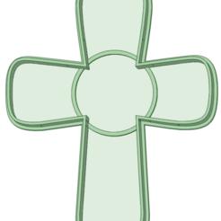 Cruz contorno_e.png Télécharger fichier STL Découpe de biscuits à contour croisé • Design pour impression 3D, osval74