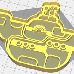 Submarine_1.png Download STL file Yellou Submarine cookie cutter • 3D printer model, osval74