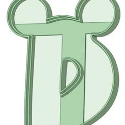 Télécharger plan imprimante 3D D avec oreilles Mickey l'emporte-pièce à emporte-pièce, osval74