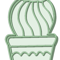 Download 3D model Cactus 6 cookie cutter, osval74