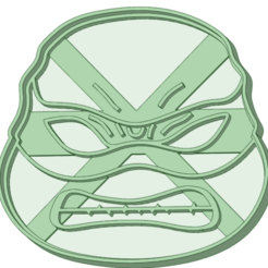 Impresiones 3D Donatello tortugas ninjas cookie cutter, osval74