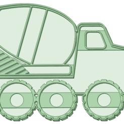Mezclador_e.png Télécharger fichier STL Camion malaxeur coupe-biscuits • Design pour imprimante 3D, osval74