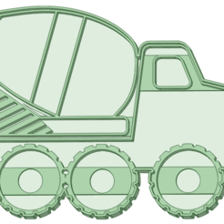 Mezclador_e.png Download STL file Mixer Truck Cookie Cutter • 3D printing design, osval74