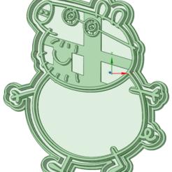 Papa Pig_e.png Télécharger fichier STL Coupe-patate de porc • Design pour imprimante 3D, osval74