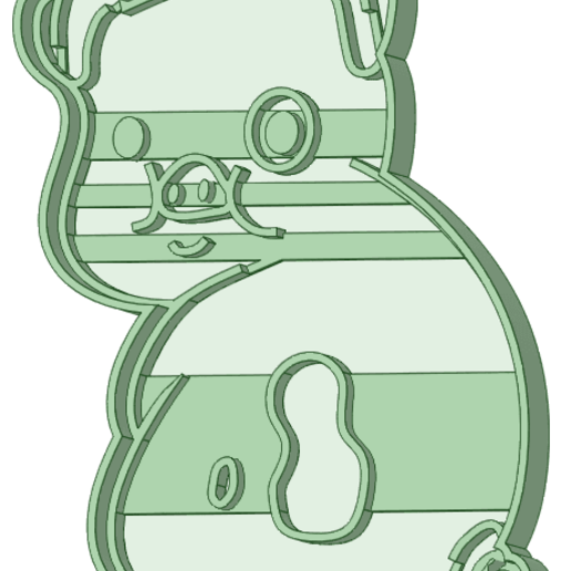 Download STL file Waddles 2 gravity falls cookie cutter, osval74