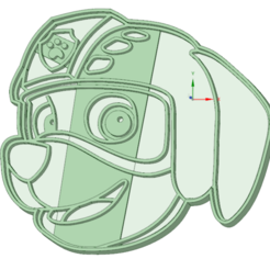 STL files Zuma Paw Patrol cookie cutter, osval74