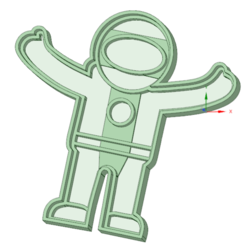 STL Astronaut cookie cutter, osval74