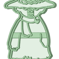 Snufkin.png Télécharger fichier STL Coupe-biscuits Moomin Snufkin • Objet pour impression 3D, osval74