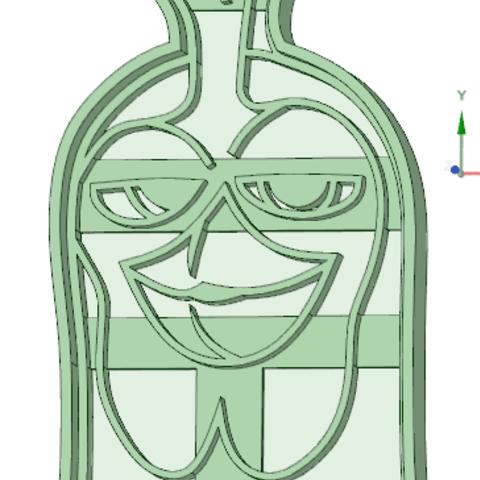 Imprimir en 3D Gallo Zenon cookie cutter , osval74
