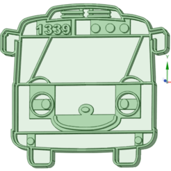 2_e.png Download STL file Tayo Bus 2 cookie cutter • 3D printer design, osval74