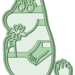 Esnorquita_1.png Télécharger fichier STL Snorkel Moomin moule à biscuit • Design pour imprimante 3D, osval74