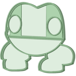 Frog_e.png Download STL file Frog Cookie Cutter • 3D print object, osval74