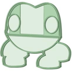 Frog_e.png Télécharger fichier STL Coupe-croûte de grenouille • Modèle à imprimer en 3D, osval74