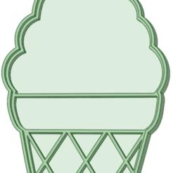 Helado_e.png Télécharger fichier STL Coupe-biscuit de crème glacée vide • Design à imprimer en 3D, osval74