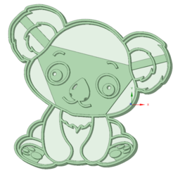Download 3D printing designs Koala baby cookie cutter, osval74