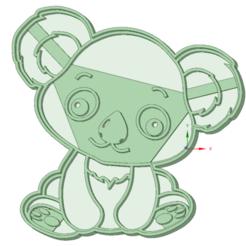 Impresiones 3D Koala bebe cookie cutter, osval74