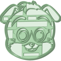 4_e.png Download STL file Puppy dog 4 cookie cutter • 3D printable template, osval74