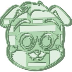 4_e.png Télécharger fichier STL Chien 4 biscuits à l'emporte-pièce • Objet pour impression 3D, osval74