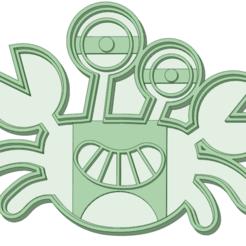 cangrejo.png Télécharger fichier STL Couteau à biscuits Crab Baby Shark à l'emporte-pièce • Plan pour imprimante 3D, osval74