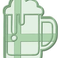 STL file Chopp beer cookie cutter, osval74