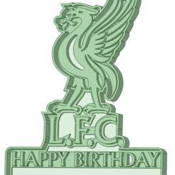LFC_HP_e.png Download STL file Liverpool logo cutter Happy birthday customizable • Object to 3D print, osval74