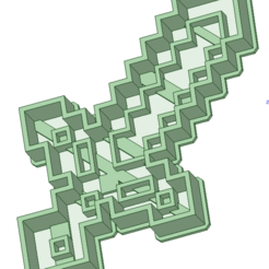 STL file Sword Minecraft cookie cutter, osval74