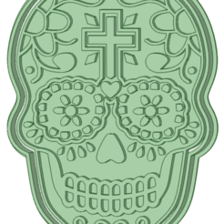 Skull 2_e.png Download STL file Calaver Skul 2 cookie cutter • 3D printing template, osval74