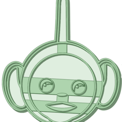 1_e.png Download STL file Teletubbies 1 cookie cutter • 3D printer design, osval74