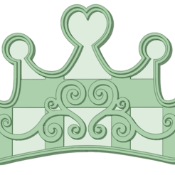 Corona corazon - copia.png Télécharger fichier STL Coeur de la couronne 9 à l'emporte-pièce • Modèle pour imprimante 3D, osval74