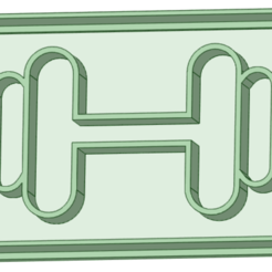 6_e.png Download STL file 6x4 weights with cookie cutter frame • 3D printable template, osval74