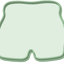 Short contorno_e.png Download STL file Short contour cookie cutter • Object to 3D print, osval74