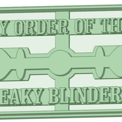 2_e.png Download STL file Peaky Blinders 2 cookie cutter • 3D print model, osval74