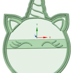 Télécharger plan imprimante 3D Licorne 1.1 moule à biscuit, osval74