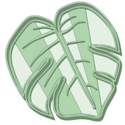 Download 3D printing designs Tropical cookie cutter leaf, osval74