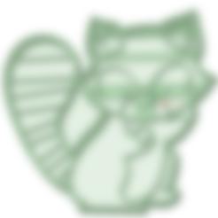 3D print files Raccoon cookie cutter, osval74