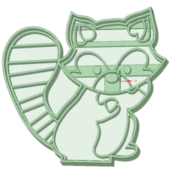 Download 3D printing files Raccoon cookie cutter, osval74