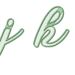 STL file ijkl italic cookie cutter, osval74