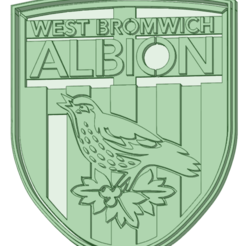 Download 3D print files West Bromwich Albion cookie cutter, osval74