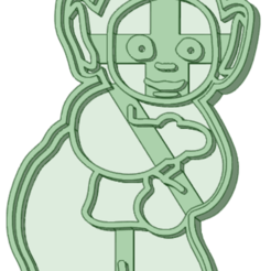 4_e.png Download STL file Teletubbies 4 whole cookie cutter • Model to 3D print, osval74