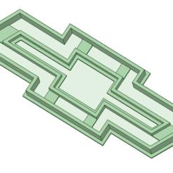 3D print files Chevrolet logo cookie cutter, osval74