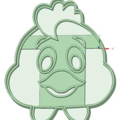 Descargar modelo 3D Gallinita cookie cutter, osval74