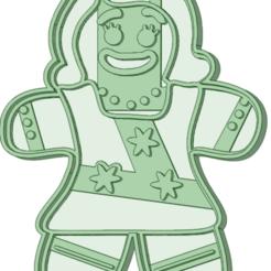 Jengibre novia.png Télécharger fichier STL Emporte-pièce Ginger Bride • Design à imprimer en 3D, osval74