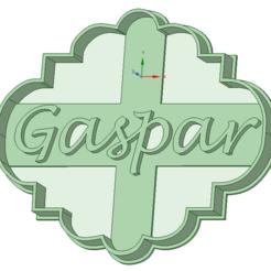Impresiones 3D Nombres: Gaspar cookie cutter, osval74