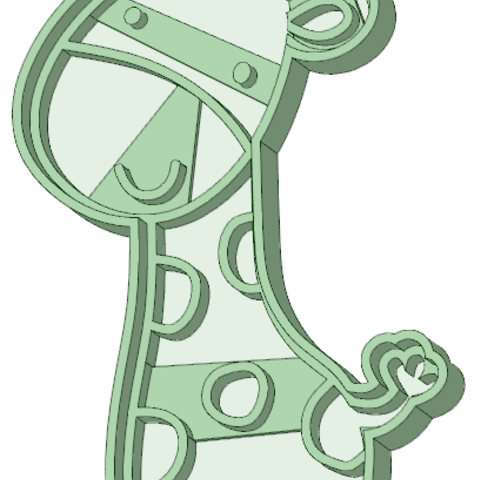 STL Whole baby giraffe cookie cutter, osval74